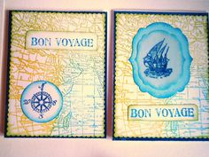 Bon Voyage World map Have a nice trip saying Farewell by Wcards, $6.00