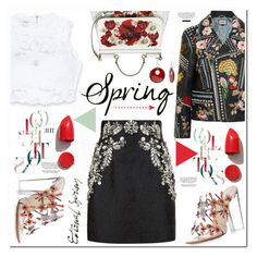 """No 351:Spring Day to Night"" by lovepastel ❤ liked on Polyvore featuring Dolce&Gabbana, Bebe, Paul Andrew, Gucci, NARS Cosmetics, Mixit and daytoevening"