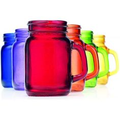 Each mason jar glass comes with a reusable straw and lid, making them perfect…