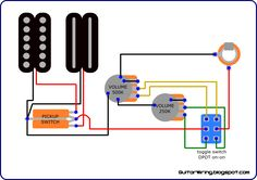 Seymour Duncan P-Rails wiring diagram - 2 P-Rails, 1 Vol ...