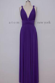 Royal Purple Floor Length Ball Gown Long Maxi Infinity Dress Convertible Formal Multiway Wrap Dress Bridesmaid Dress Evening Dress