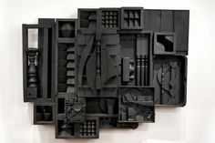 Louise Nevelson...notice the repetition of shapes and the internal spaces created