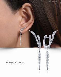 Diamond Earrings / Diamond Studs in Gold / Evil Eye Diamond Earrings / Evil Eye Jewelry / Gold Jewelry / Gift for Her - Fine Jewelry Ideas Moon Earrings, Amethyst Earrings, Crystal Earrings, Clip On Earrings, Silver Earrings, Diamond Earrings, Stud Earrings, Diamond Jewelry, Jewelry For Her