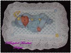 Pelele y mantón / manta de 7.12 pulgadas muñeca-chal, pijama, manta