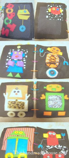 cute robot book: with buckles, zippers and such