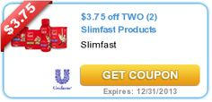 Print the new high-value $3.75/2 Slimfast products coupon = Matches a CVS BOGO store coupon! - http://printgreatcoupons.com/2013/12/13/print-the-new-high-value-3-752-slimfast-products-coupon-matches-a-cvs-bogo-store-coupon/