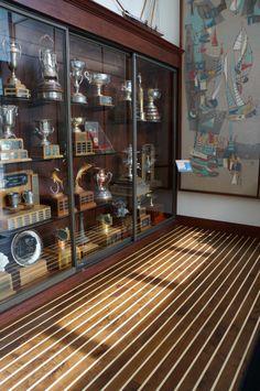 Custom Richard Marshall Walnut And Maple Wood Floor Installed At Balboa  Yacht Club In Newport Beach