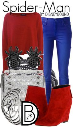 Spider Man by Disney Bound More - Visit to grab an amazing super hero shirt now on sale! Marvel Inspired Outfits, Character Inspired Outfits, Super Hero Outfits, Cool Outfits, Fashion Outfits, Movie Outfits, Mode Geek, Marvel Fashion, Disney Fashion
