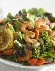 Garlic Shrimp and White Bean Salad