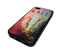 For Apple Iphone 5 or 5s Cute Phone Cases for Girls Teens Surf City Palm Trees California Cali Design Cover Skin Black Rubber Silicone Teen Gift Vintage Hipster Fashion Design Art Print Cell Phone Accessories MonoThings http://www.amazon.com/dp/B00KYF4NQI/ref=cm_sw_r_pi_dp_ul6Ntb1FNJB4ETQ8