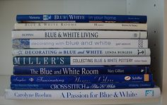 books about decorating with the color blue