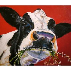 Still LUV My Cows! Dixie is a print of an original acrylic painting by kevinmeredith, $18.00