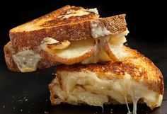 Garlic Fries Grilled Cheese Melt Grilled Cheese, Making Grilled Cheese, Sliced Roasted Potatoes, Roasted Garlic Cloves, Cuban Sandwich, Soup And Sandwich, Sandwich Recipes, Snack Recipes, Cheese Recipes