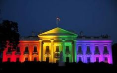 The White House is illuminated in rainbow colors after today's historic Supreme Court ruling legalizing gay marriage in Washington June REUTERS/Gary Cameron - Leelah, Pride Colors, Christian Friends, That Way, Rainbow Colors, Rainbow Flag, Rainbow Pride, Rainbow Stuff, Like4like