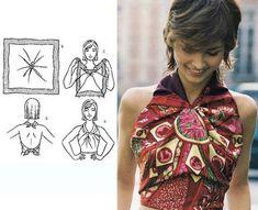 15 Tying Ways to Turn Scarf into Fashion Top