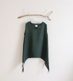 ready to ship emerald eco linen swallow top by annyschooecoclothing