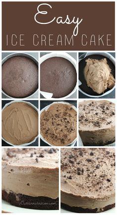 Easy Ice Cream Cake (gluten/dairy free) | Butternutrition.com