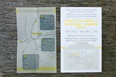 Wedding Invitations by Fourth Year Studio via Oh So Beautiful Paper - folded map in envelope