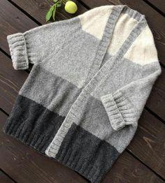 Long Cardigan, Sweater Cardigan, Knit Jacket, Knitting Stitches, Lana, Knit Crochet, Pullover, Coat, Womens Fashion