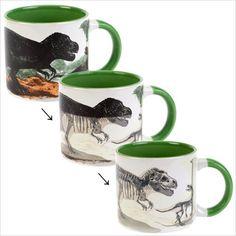 Taza de dinosaurios que con el calor se vuelven fósiles | La Guarida Geek
