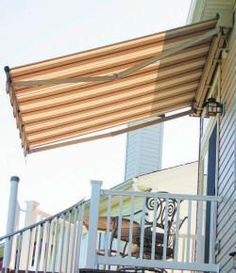 Retractable Awning: All awnings are custom made to fit your needs by South Coast Awning. The Fabric selections come from an outdoor fabric manufacturer known as Sunbrella Fabrics (To learn more about the fabric please visit: www.sunbrella.com) Each Awning will be installed by a team of experts from South Coast Awning.  Warranty: Sunbrella Fabrics and Labour: 10 Years. Frame- Dependent on Model: 5 or 10 Years. To Get Your Free Estimate Please Contact Us at South Coast Awning:  (519)409-5754