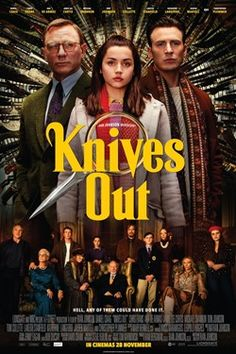 Knives Out - A fun twisty film that I enjoyed from start to finish. Movie Info, Movie Tv, Cinema Movies, Movies Showing, Movies And Tv Shows, Movies To Watch, Good Movies, Cinema Online, Rian Johnson