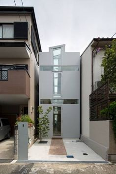 New Ideas Apartment Building Design Architecture Small Spaces Narrow House Designs, Tiny House Design, Modern House Design, Space Architecture, Modern Architecture House, Building Design, Building A House, Modern Townhouse, Modern Minimalist House