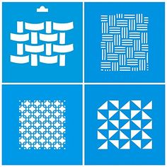 Set of 4 - 10cm x 10cm Reusable Flexible Plastic Stencil for Graphical Design Airbrush Decorating Wall Furniture Fabric Decorations Drawing Drafting Template - Mesh Net Interlaced Grid: Amazon.co.uk: Kitchen & Home