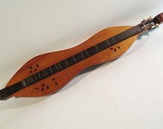 Mountain Dulcimer, Vintage Appalachian Musical Instrument Traditional Folk Music 4 string Hog Fiddle Hourglass Zither Hootenanny