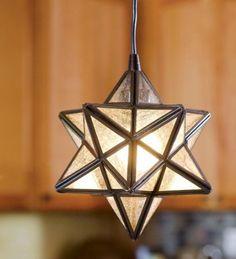 "Amazon.com: 8""W X 10""H Moravian Star Pendant Light, In Bronze: Home Improvement"