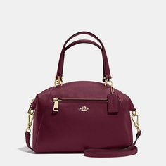 Coach $295 Prairie Satchel in Pebble Leather