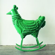 Jaime Hayon: doesn't everyone want a green chicken rocker?