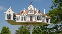 Bird Houses, High Quality Images, Mansions, House Styles, Building, Birds, Home Decor, Birdhouse Ideas, Cabins
