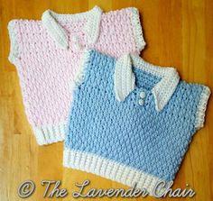 Brickwork Baby Vest newborn-18 months - FREE crochet pattern - The Lavender Chair