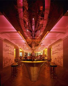 The pink-tinged Glamour Bar has a sophisticated 1930s vibe and excellent straight-up martinis.