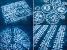 tutorial - dyeing Shibori patterns