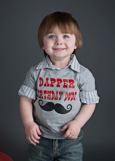 Dapper Birthday Dude Tee   For Little Man by birthdaycouture, $25.00