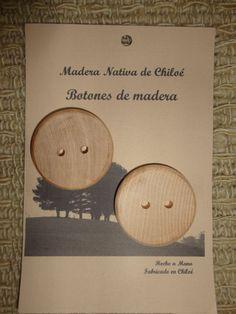 Botones Redondos en Madera Nativa de Mañio por ElEmporiodeSofia