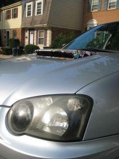 #stickerbomb 2005 Subaru Wrx, Subaru Impreza, Sticker Bomb, Wrx Sti, Creative