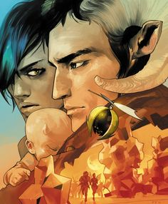 Saga by Brian K. Vaughan and Fiona Staples by Image comics. Simply AWESOME.