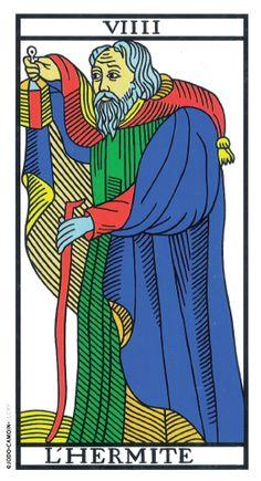 The Hermit - Tarot de Marseille (Camoin-Jodorowsky) - rozamira tarot - Picasa… Traditional Tarot Cards, The Hermit Tarot, Le Tarot, Tarot Major Arcana, Tarot Card Decks, Art Graphique, Oracle Cards, Deck Of Cards, Occult