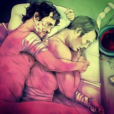 """164 curtidas, 21 comentários - Camille Cailloux (@flyingrotten) no Instagram: """"PLEASE DO NOT REPOST WITHOUT ASKING ME FIRST Also. Will and Hannibal slowly and SOFTLY recovering…"""""""
