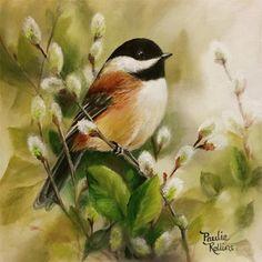 "Daily Paintworks - ""Springtime Fuzzies"" - Original Fine Art for Sale - © Paulie Rollins"