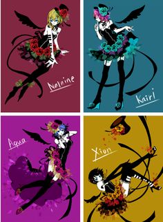 Kingdom Hearts Namine, Kairi, Aqua, and Xion
