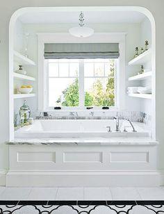 bath in alcove - Google Search