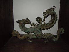 Dragon Bronze antique chinesisch 陰陽 / 阴阳, Pinyin yīn yáng