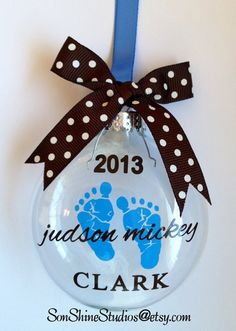 Baby's Christmas Ornament Girl or Boy by sonshinestudios on Etsy