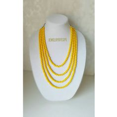 Hey, I found this really awesome Etsy listing at https://www.etsy.com/listing/509099060/yellow-necklace-layered-necklace