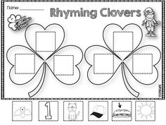 FREE Rhyming Clovers just in time for St. Patrick's Day!