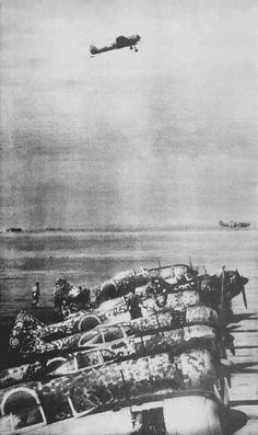 "Ki-44 fighters ""Seki"" at the airport military flight school Akeno"